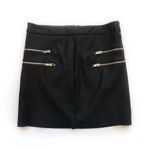 Nasty Gal Black Vegan Leather Mini Skirt